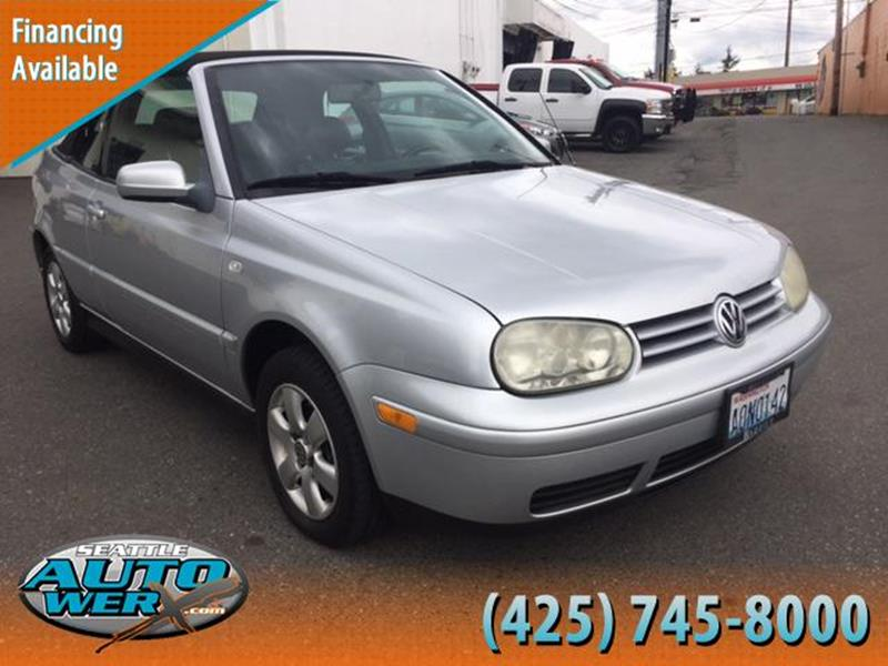2002 Volkswagen Cabrio for sale at Seattle Auto Werx in Lynnwood WA