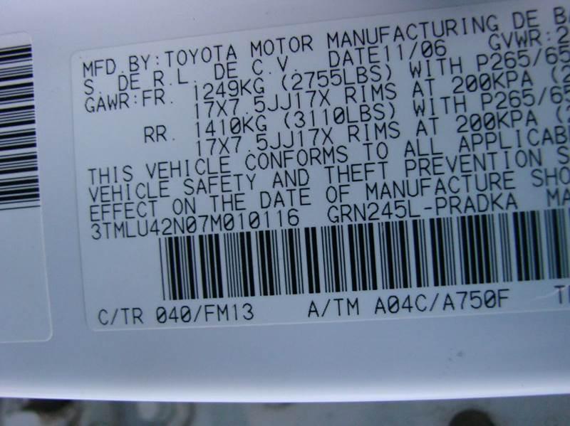 2007 Toyota Tacoma V6 4dr Double Cab 4WD 5.0 ft. SB (4L V6 5A) - Greeley CO