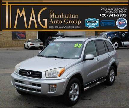 2002 Toyota RAV4 for sale at THE MANHATTAN AUTO GROUP in Greeley CO