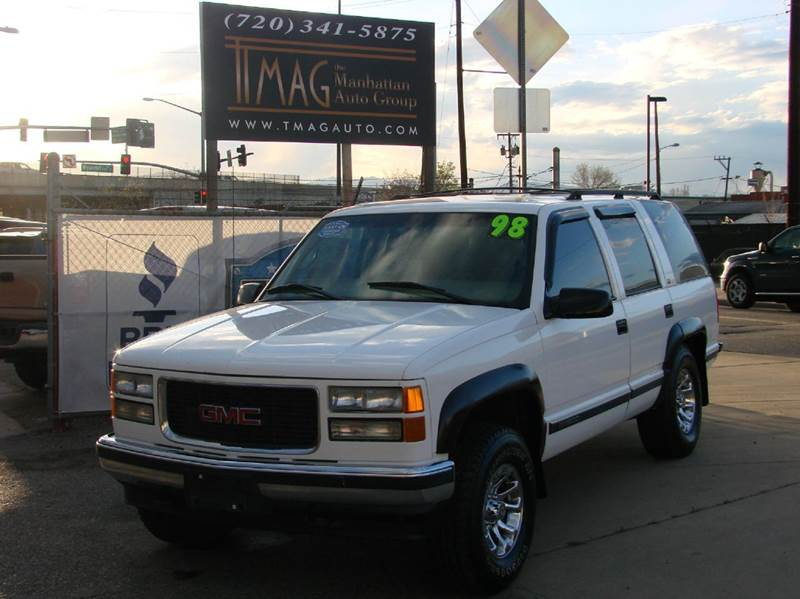 1998 gmc yukon slt 4dr 4wd suv in greeley co the manhattan auto group 1998 gmc yukon slt 4dr 4wd suv in