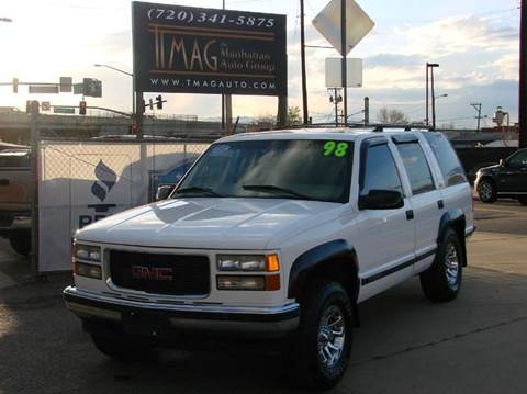 1998 GMC Yukon for sale at THE MANHATTAN AUTO GROUP in Greeley CO