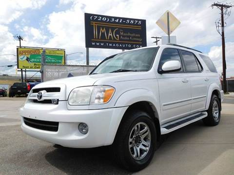 2005 Toyota Sequoia for sale at THE MANHATTAN AUTO GROUP in Greeley CO