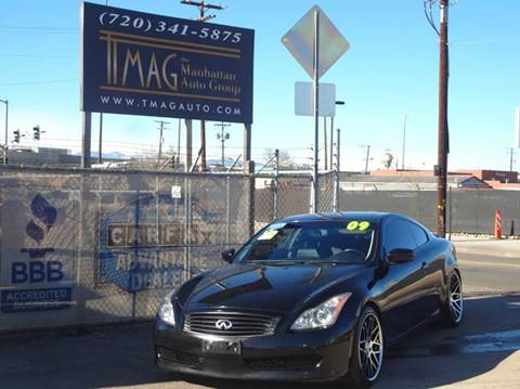 2009 Infiniti G37 Coupe for sale at THE MANHATTAN AUTO GROUP in Greeley CO