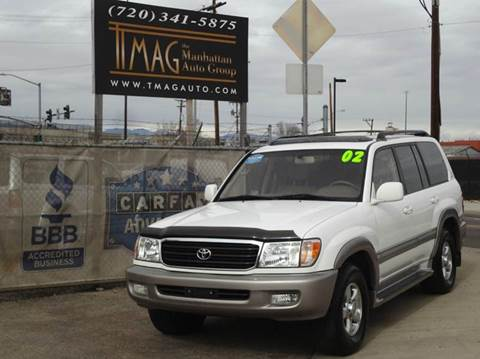 2002 Toyota Land Cruiser for sale at THE MANHATTAN AUTO GROUP in Greeley CO