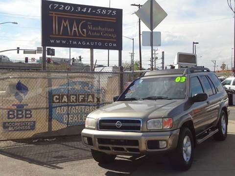 2003 Nissan Pathfinder for sale at THE MANHATTAN AUTO GROUP in Greeley CO