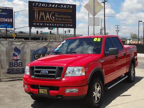 2005 Ford F-150 for sale at THE MANHATTAN AUTO GROUP in Greeley CO