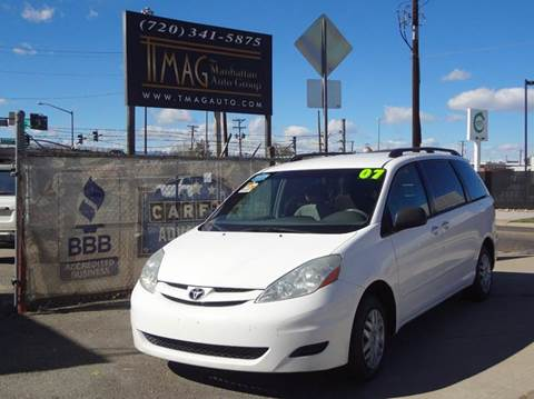 2007 Toyota Sienna for sale at THE MANHATTAN AUTO GROUP in Greeley CO