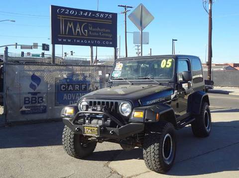 2005 Jeep Wrangler for sale at THE MANHATTAN AUTO GROUP in Greeley CO