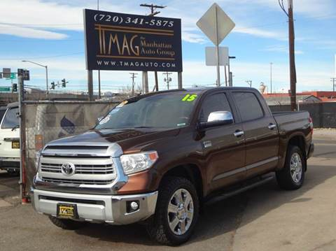 2015 Toyota Tundra for sale at THE MANHATTAN AUTO GROUP in Greeley CO