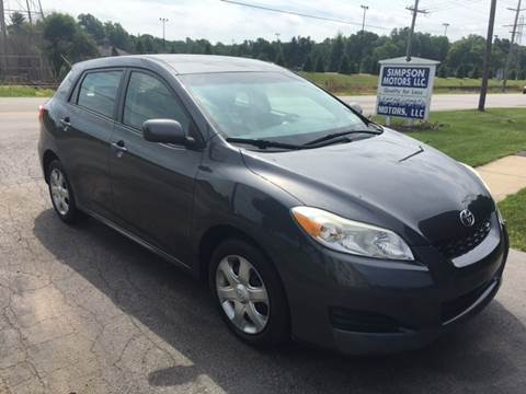 2009 Toyota Matrix for sale in Youngstown, OH