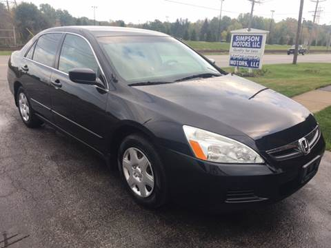 2007 Honda Accord for sale in Youngstown, OH
