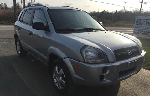 2007 Hyundai Tucson for sale at SIMPSON MOTORS in Youngstown OH