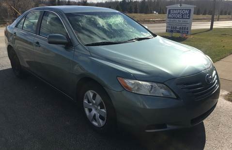 2007 Toyota Camry for sale at SIMPSON MOTORS in Youngstown OH