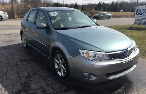 2009 Subaru Impreza for sale at SIMPSON MOTORS in Youngstown OH