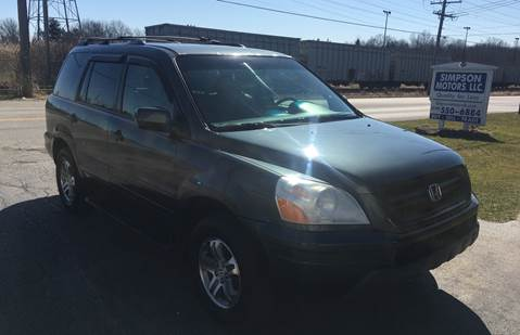 2004 Honda Pilot for sale at SIMPSON MOTORS in Youngstown OH