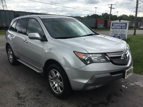2008 Acura MDX for sale at SIMPSON MOTORS in Youngstown OH