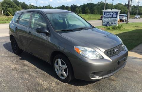 2005 Toyota Matrix for sale at SIMPSON MOTORS in Youngstown OH
