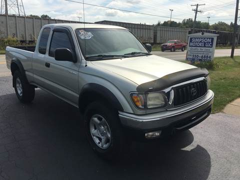 2002 Toyota Tacoma for sale at SIMPSON MOTORS in Youngstown OH