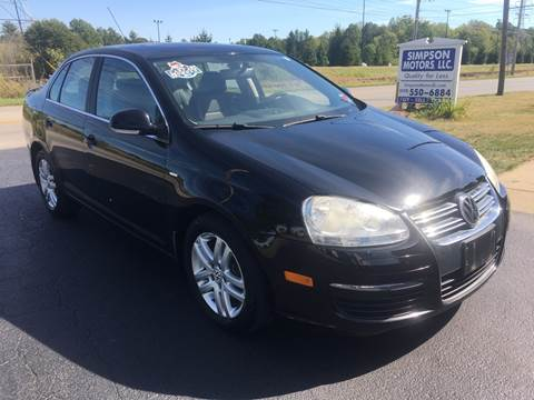 2007 Volkswagen Jetta for sale at SIMPSON MOTORS in Youngstown OH