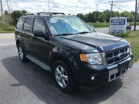 2011 Ford Escape for sale at SIMPSON MOTORS in Youngstown OH