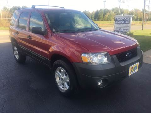 2007 Ford Escape for sale at SIMPSON MOTORS in Youngstown OH