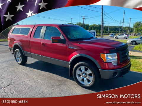 2009 Ford F-150 for sale at SIMPSON MOTORS in Youngstown OH