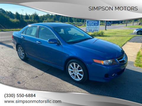 2006 Acura TSX for sale at SIMPSON MOTORS in Youngstown OH