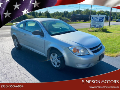 2007 Chevrolet Cobalt for sale at SIMPSON MOTORS in Youngstown OH