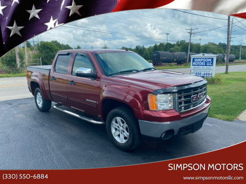 2008 GMC Sierra 1500 for sale at SIMPSON MOTORS in Youngstown OH