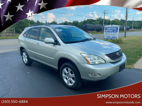 2004 Lexus RX 330 for sale at SIMPSON MOTORS in Youngstown OH