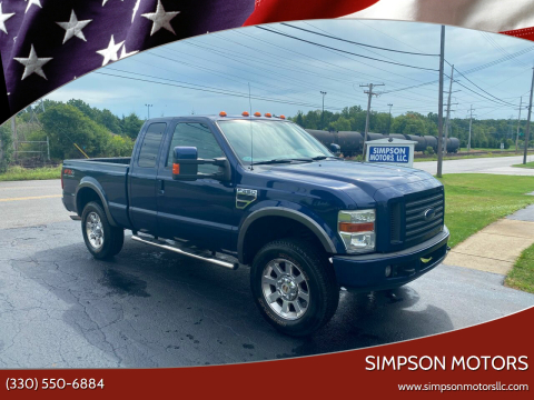 2008 Ford F-250 Super Duty for sale at SIMPSON MOTORS in Youngstown OH