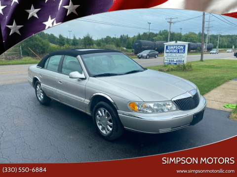 2002 Lincoln Continental for sale at SIMPSON MOTORS in Youngstown OH