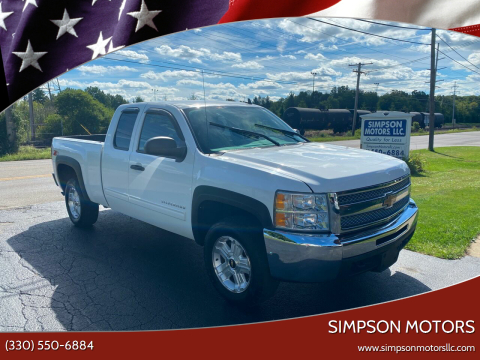 2012 Chevrolet Silverado 1500 for sale at SIMPSON MOTORS in Youngstown OH