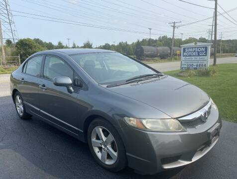 2009 Honda Civic for sale at SIMPSON MOTORS in Youngstown OH