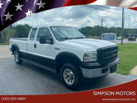 2005 Ford F-250 Super Duty for sale at SIMPSON MOTORS in Youngstown OH