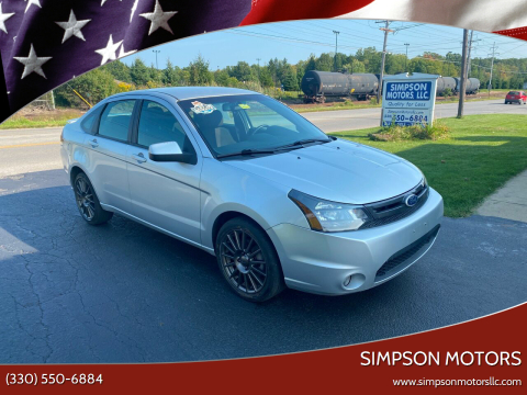 2011 Ford Focus for sale at SIMPSON MOTORS in Youngstown OH