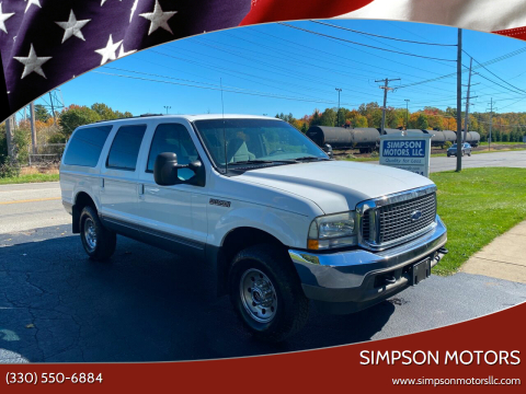 2002 Ford Excursion for sale at SIMPSON MOTORS in Youngstown OH