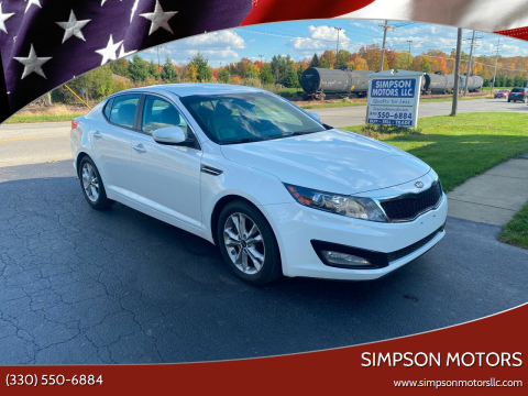 2011 Kia Optima for sale at SIMPSON MOTORS in Youngstown OH