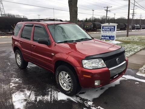 2007 Mercury Mariner for sale at SIMPSON MOTORS in Youngstown OH