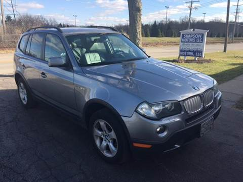 2007 BMW X3 for sale at SIMPSON MOTORS in Youngstown OH