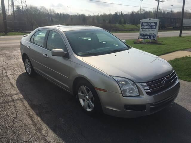 2008 Ford Fusion I4 SE 4dr Sedan - Youngstown OH