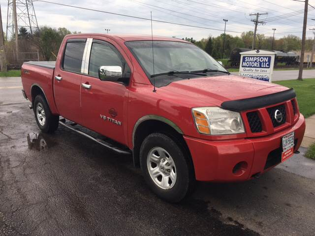 2007 Nissan Titan for sale at SIMPSON MOTORS in Youngstown OH