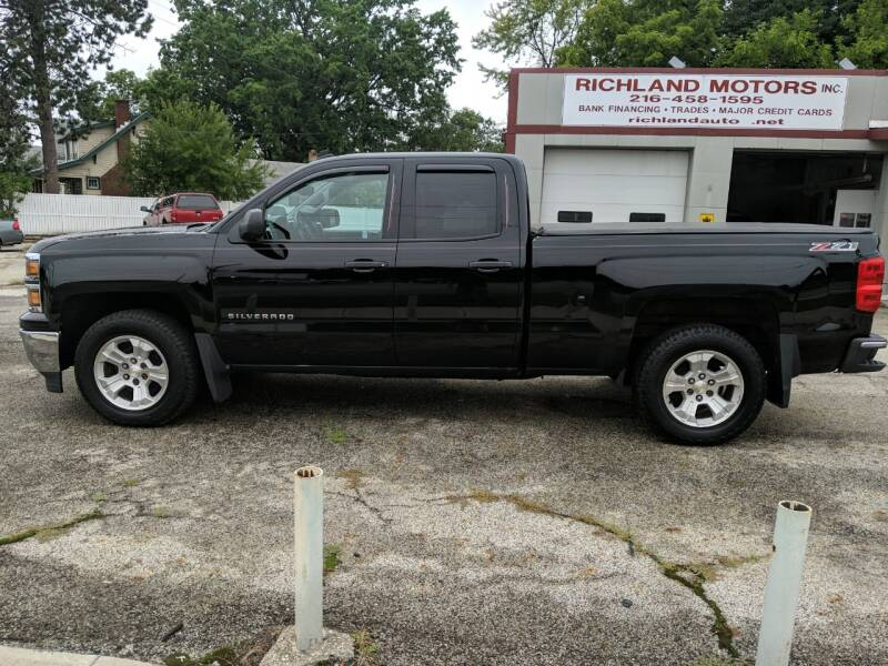 2014 Chevrolet Silverado 1500 for sale at Richland Motors in Cleveland OH