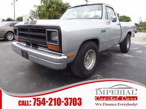 1986 Dodge RAM 150 for sale at IMPERIAL CAPITAL CARS INC in Miramar FL