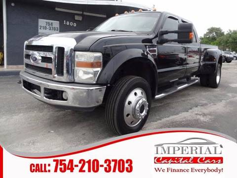 2008 Ford F-450 Super Duty for sale at IMPERIAL CAPITAL CARS INC in Miramar FL