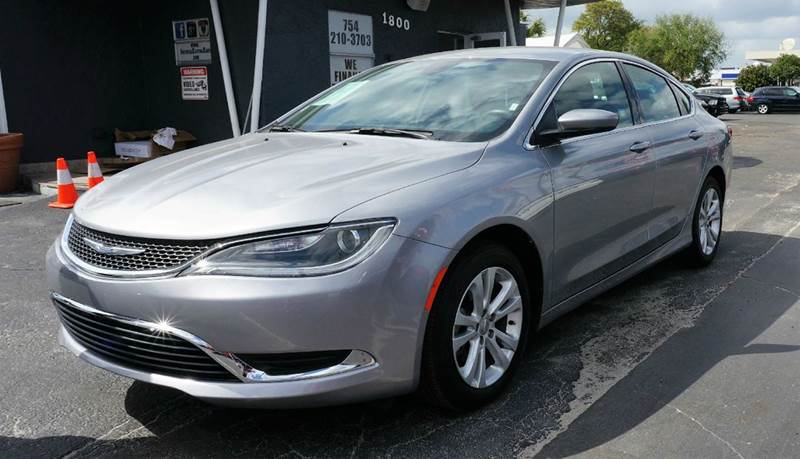 2015 CHRYSLER 200 LIMITED 4DR SEDAN granite crystal metallic clear wheels 17 x 75 tech silv