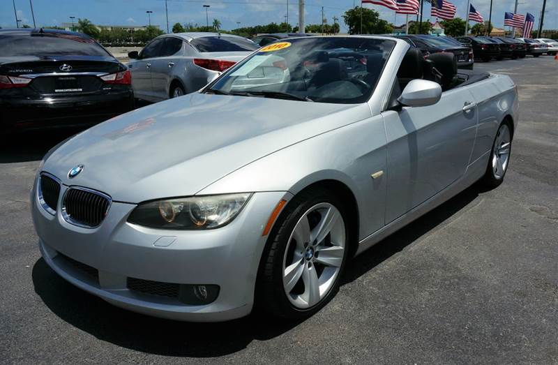 2010 BMW 3 SERIES 335I 2DR CONVERTIBLE titanium silver metallic dakota leather upholsteryamfm c