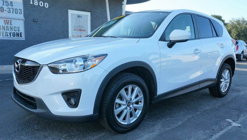 2013 MAZDA CX-5 TOURING 4DR SUV white call 1-754-210-3703 for sales this vehicle runs great an