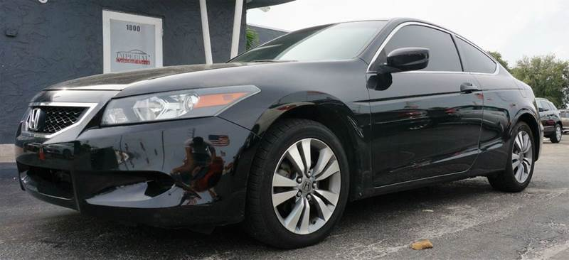 2009 HONDA ACCORD EX-L 2DR COUPE 5A black call 1-754-210-3703 for sales this vehicle fully loade