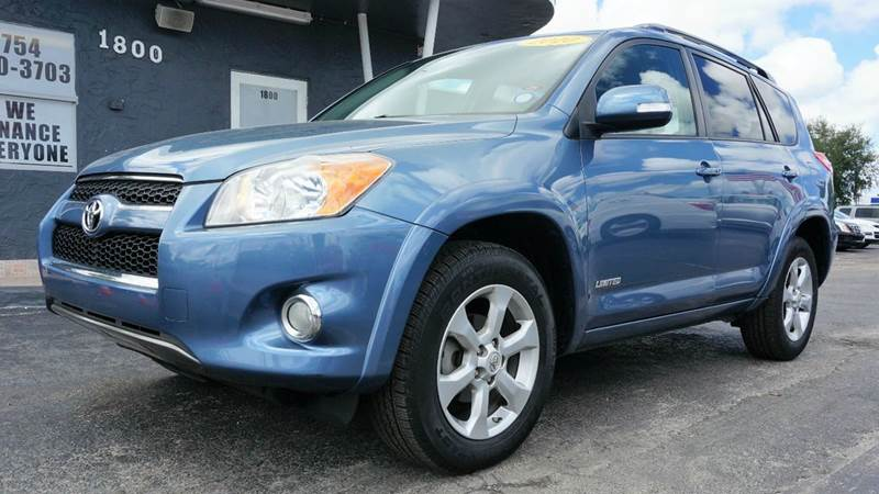 2010 TOYOTA RAV4 LIMITED 4X4 4DR SUV blue call 1-754-210-3703 for sales this vehicle fully l